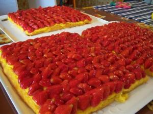 Torta morbida di fragole