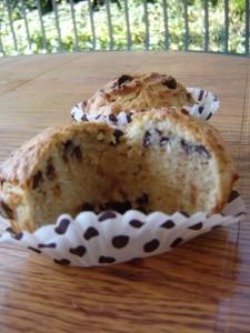 muffin al cocco banana e cioccolato