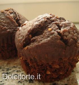 muffin al cioccolato e nocciola