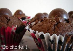 Cupcakes con palline di Natale