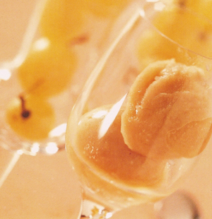 Sorbetto di uva e grappa