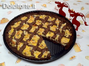 Crostata cioccolato, ricotta e mandorle