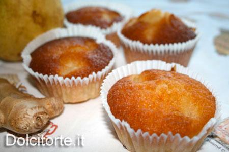 Muffin natalizi alle pere e zenzero